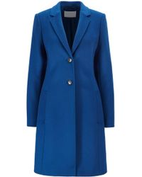 BOSS Regular-fit Wool And Cashmere Coat - Blue