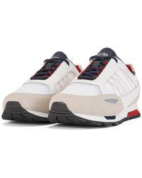 BOSS by HUGO BOSS Sneakers aus Veloursleder, Leder und Ripstop-Nylon im Laufschuh-Stil - Weiß