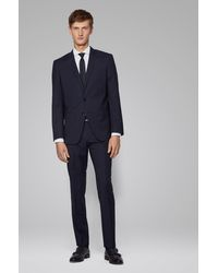 BOSS by HUGO BOSS Camisa slim fit en algodón Oxford italiano - Blanco