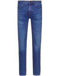 HUGO Slim-fit Jeans In Mid-blue Comfort-stretch Denim