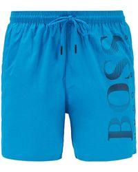 BOSS by Hugo Boss - Octopus Trunk Swim Shorts Blue - Lyst
