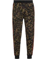 HUGO Trainingsbroek Van Katoenen Jersey Met Camouflageprint - Groen