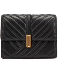 BOSS Crossbody Bag In Quilted Leather With Signature Hardware - Black