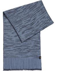 BOSS - Stretch-cotton Scarf In Space-dye Jacquard Pattern - Lyst
