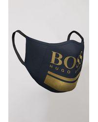 BOSS by HUGO BOSS Mondkapje In Single-jersey Met Logo In Goudlook - Meerkleurig