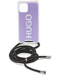 HUGO Telefoonhoesje Met Logoprint En Verstelbare Touwriem - Paars