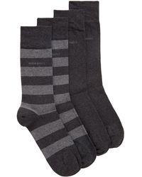 BOSS by HUGO BOSS Set Van Twee Paar Sokken Van Een Gekamde Katoenmix Met Een Normale Lengte - Grijs