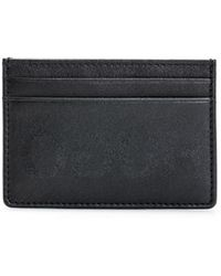HUGO - Leather Card Case With Reverse Logo - Lyst