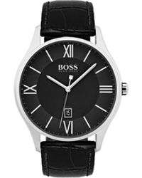 BOSS - Governor Classic, Italian Emed Leather Watch | 1513485 - Lyst