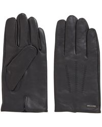 BOSS - Lined Gloves In Nappa Leather With Stitched Details - Lyst