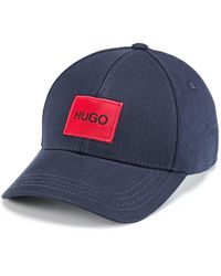 HUGO Panelled Cap In Cotton Twil With Logol - Blue