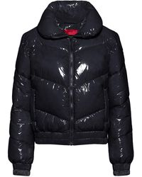HUGO Glossy Quilted Jacket With Recycled Padding - Black