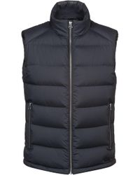 HUGO - Water-repellent Down-filled Gilet With Reverse-logo Print - Lyst