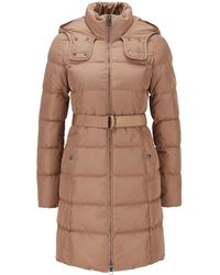 BOSS - Hooded Down Jacket With Water-repellent Outer - Lyst
