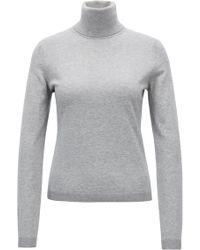 847f38a92 Hot BOSS - Roll-neck Jumper In A Cotton Blend With Cashmere - Lyst