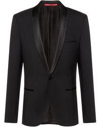 HUGO Slim-fit Dinner Jacket With Silk Trim - Blue