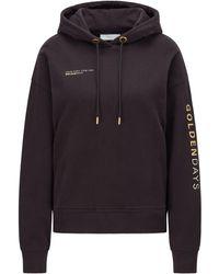 BOSS by HUGO BOSS Golden-logo Hooded Sweatshirt In An Organic-cotton Blend - Black