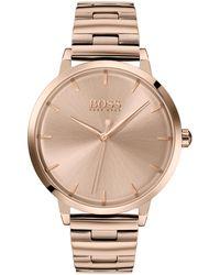 BOSS by HUGO BOSS Lichtgoudkleurig Gecoat Horloge Met Geschakelde Polsband - Metallic