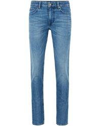 BOSS by HUGO BOSS Extra Slim-fit Jeans Van Blauw Comfortabel Stretchdenim
