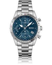 BOSS by HUGO BOSS Link-bracelet Chronograph Watch With Luminescent Hands - Metallic