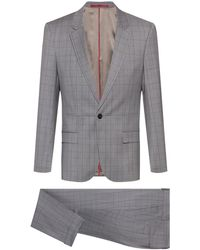 HUGO Slim-fit Suit In Virgin-wool Serge - Metallic
