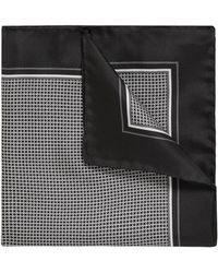 BOSS - Silk Pocket Square With Dot Print - Lyst