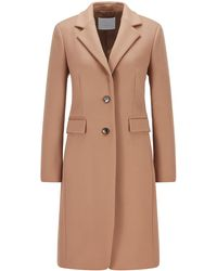 BOSS by HUGO BOSS Regular-fit Coat In Virgin Wool And Cashmere - Brown