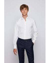 BOSS by HUGO BOSS Slim-fit Shirt In Easy-iron Cotton-blend Poplin - White