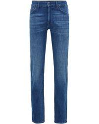 BOSS by HUGO BOSS Regular-fit Jeans Van Superzacht Italiaans Stretchdenim - Blauw