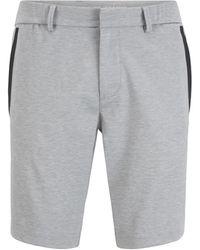 BOSS by HUGO BOSS Shorts slim fit en punto elástico con trabillas del cinturón - Gris