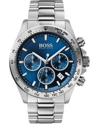 BOSS by Hugo Boss Stainless-steel Chronograph Watch With Blue Dial - Metallic