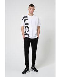 HUGO T-shirt Regular Fit en jersey de coton à logo revisité - Blanc