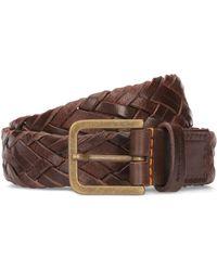BOSS Orange - Woven Belt In Soft Leather - Lyst