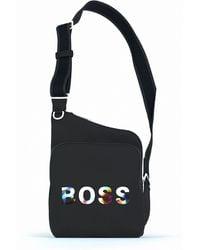 BOSS by HUGO BOSS Reportertas Van Gerecycled Technisch Materiaal Met Nieuw Logo - Zwart