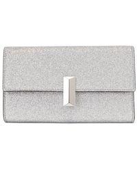 BOSS by Hugo Boss Glitter-fabric Clutch Bag With Detachable Wrist Chain - Metallic