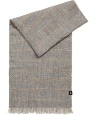 BOSS - Super-soft Scarf With Muted Stripe - Lyst