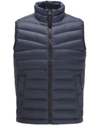 BOSS by Hugo Boss Down-filled Gilet With Water-repellent Outer - Blue