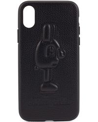 BOSS - Limited-edition Leather Iphone X Case With Jeremyville Rabbit - Lyst