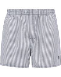 BOSS - Two-pack Of Pyjama Shorts In Pure Cotton Poplin - Lyst
