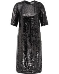BOSS Sparkly T-shirt Dress With All-over Sequins - Black