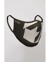 BOSS by Hugo Boss Masque mixte en tissu avec imprimé de la nouvelle saison - Noir