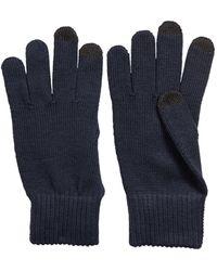 BOSS by HUGO BOSS Gebreide Handschoenen Met Touch-vingertoppen - Blauw