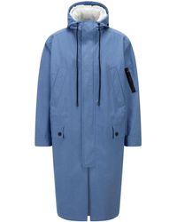 BOSS by HUGO BOSS Wasserabweisender Canvas-Mantel mit Innenjacke mit Reißverschluss - Blau