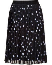 HUGO - Spot-print Plissé Skirt With Elasticated Waistband - Lyst