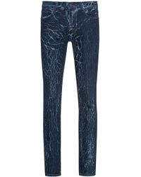 Oversize-fit stretch-denim jeans with cracked effect HUGO BOSS ncH1kEhJB