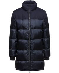 HUGO Baffle-quilted Down Coat With Water-repellent Outer - Blue