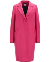 BOSS - Heavyweight Coat In A Wool Blend With Cashmere - Lyst