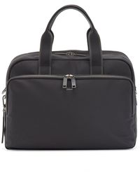 BOSS by HUGO BOSS Expandable Document Case With Monogram Address Tag - Black