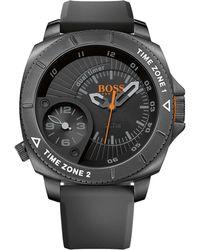 BOSS Orange - '1513213' | Stainless Steel Silicone Strap Quartz Watch - Lyst