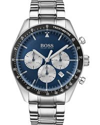 BOSS - Blue-dial Chronograph Watch With Stainless-steel Bracelet - Lyst